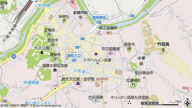 大分県竹田市竹田町202周辺の地図