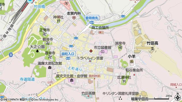 大分県竹田市竹田町下町周辺の地図