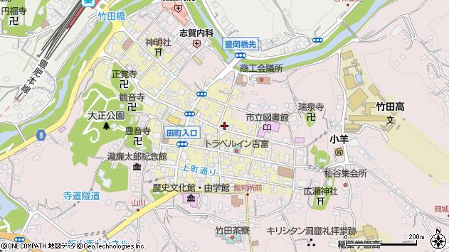 大分県竹田市竹田町306周辺の地図