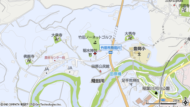 大分県竹田市飛田川1956周辺の地図