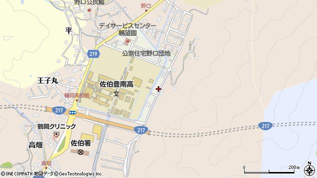 大分県佐伯市鶴望5117周辺の地図