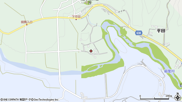 大分県竹田市平田752周辺の地図