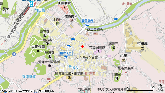 大分県竹田市竹田町304周辺の地図