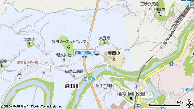 大分県竹田市飛田川1853周辺の地図