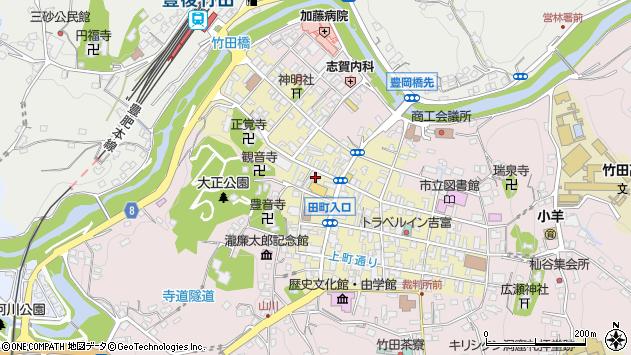 大分県竹田市竹田町502周辺の地図