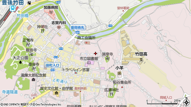大分県竹田市竹田1954周辺の地図