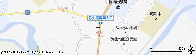 大分県佐伯市弥生大字上小倉1134周辺の地図