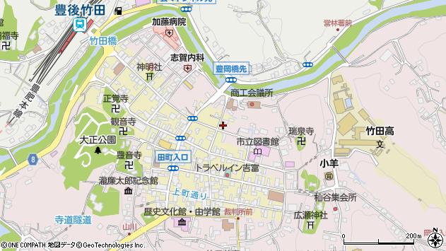 大分県竹田市竹田町322周辺の地図