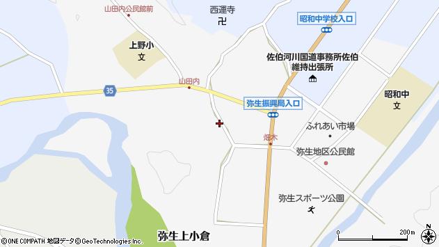 大分県佐伯市弥生大字上小倉640周辺の地図