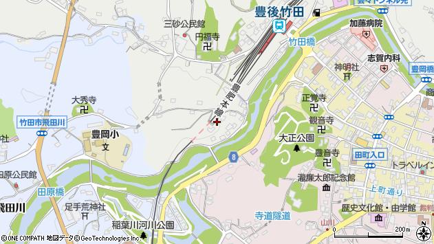 大分県竹田市会々2446周辺の地図