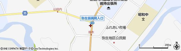 大分県佐伯市弥生大字上小倉周辺の地図