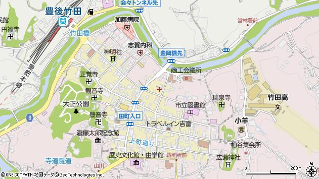 大分県竹田市竹田町355周辺の地図