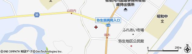 大分県佐伯市弥生大字上小倉656周辺の地図