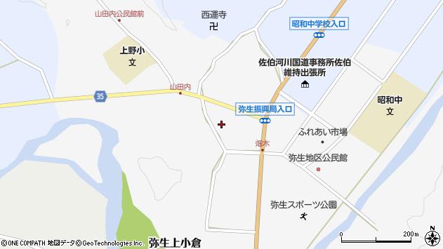 大分県佐伯市弥生大字上小倉653周辺の地図