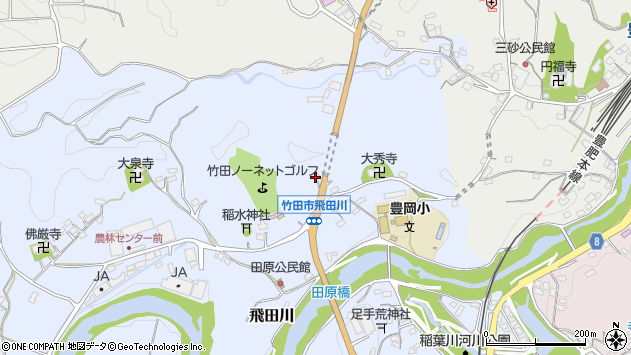 大分県竹田市飛田川1857周辺の地図