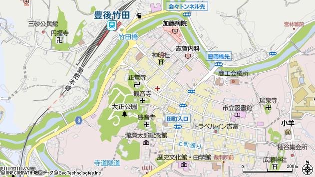 大分県竹田市竹田町603周辺の地図