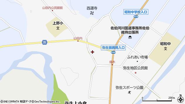 大分県佐伯市弥生大字上小倉648周辺の地図