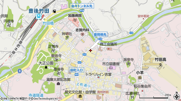 大分県竹田市竹田町357周辺の地図