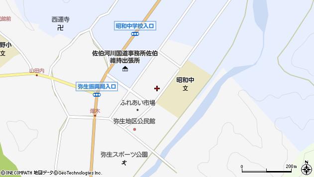大分県佐伯市弥生大字上小倉1211周辺の地図