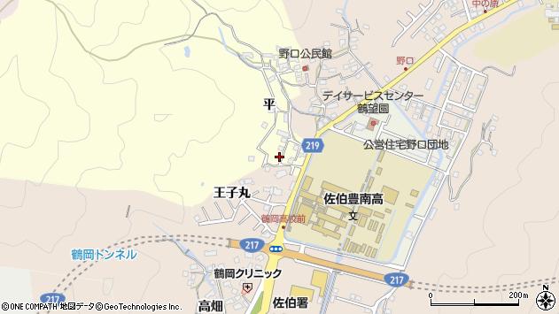 大分県佐伯市鶴望5206周辺の地図
