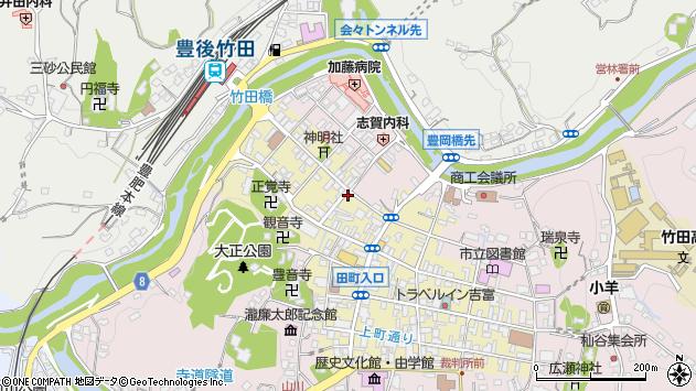 大分県竹田市竹田町538周辺の地図
