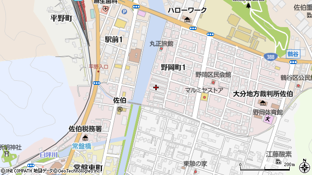 大分県佐伯市野岡町興人区周辺の地図
