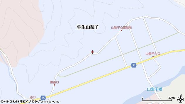 大分県佐伯市弥生大字山梨子1306周辺の地図