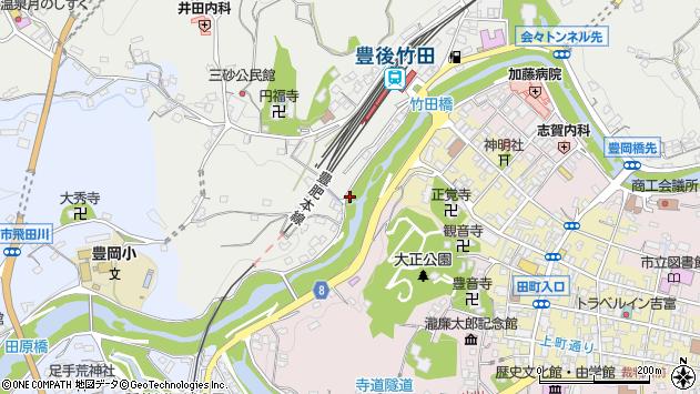 大分県竹田市会々下木周辺の地図