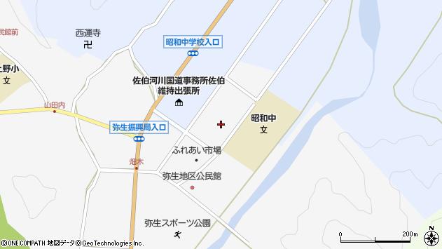 大分県佐伯市弥生大字上小倉1210周辺の地図