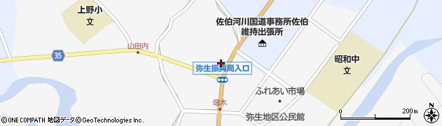 大分県佐伯市弥生大字上小倉1123周辺の地図