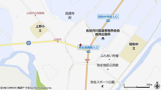 大分県佐伯市弥生大字上小倉1128周辺の地図