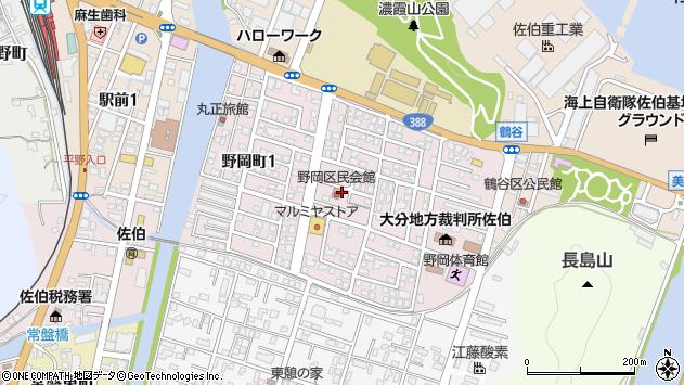 大分県佐伯市野岡町周辺の地図