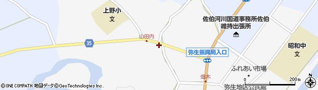 大分県佐伯市弥生大字上小倉562周辺の地図