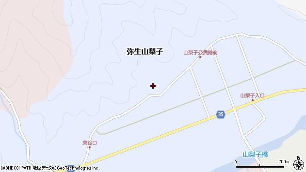 大分県佐伯市弥生大字山梨子1333周辺の地図