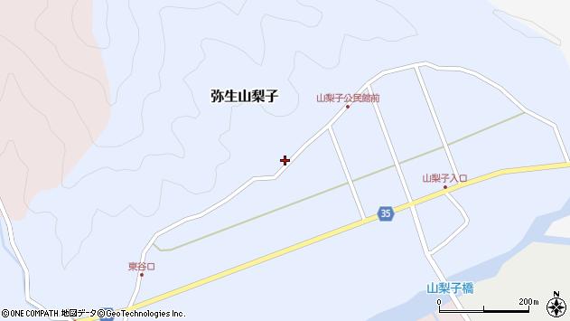 大分県佐伯市弥生大字山梨子1328周辺の地図