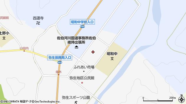 大分県佐伯市弥生大字上小倉1208周辺の地図
