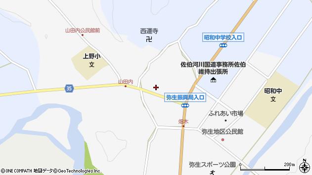 大分県佐伯市弥生大字上小倉620周辺の地図