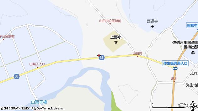 大分県佐伯市弥生大字山梨子475周辺の地図
