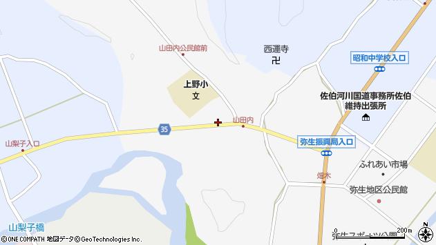 大分県佐伯市弥生大字上小倉490周辺の地図