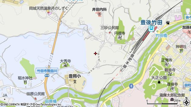 大分県竹田市会々2528周辺の地図