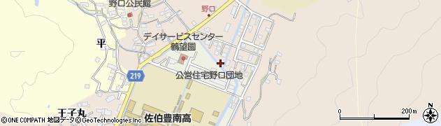 大分県佐伯市鶴望野口周辺の地図