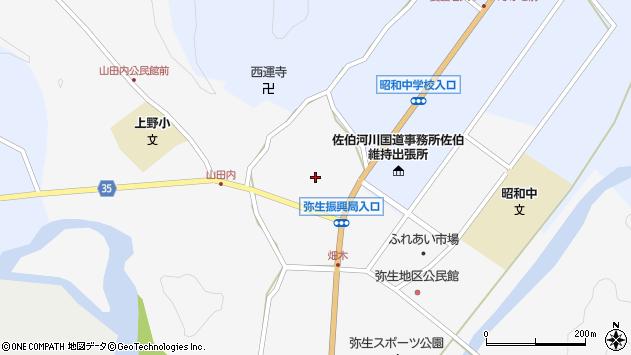 大分県佐伯市弥生大字上小倉1130周辺の地図