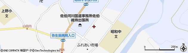 大分県佐伯市弥生大字上小倉1207周辺の地図