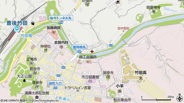 大分県竹田市会々2204周辺の地図