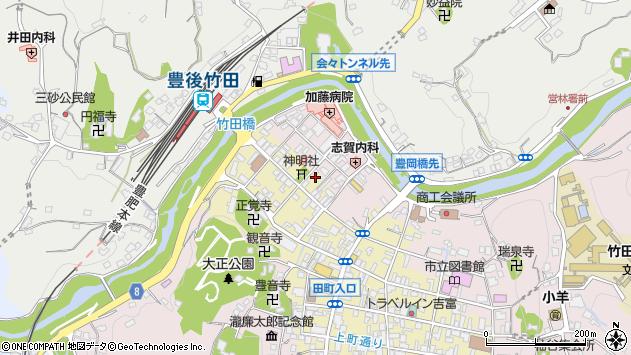 大分県竹田市竹田町550周辺の地図