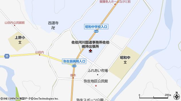 大分県佐伯市弥生大字井崎1244周辺の地図