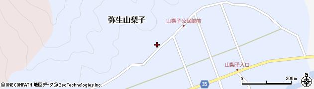 大分県佐伯市弥生大字山梨子1369周辺の地図