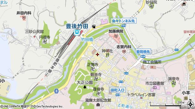 大分県竹田市竹田町578周辺の地図