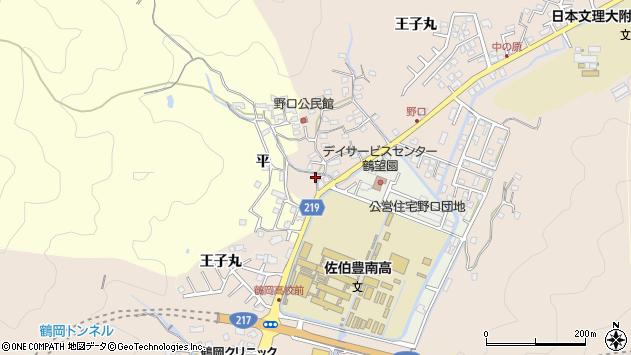 大分県佐伯市鶴望2966周辺の地図