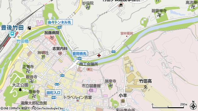 大分県竹田市会々2203周辺の地図